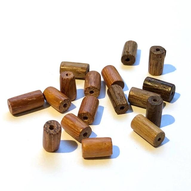 〈再入荷〉円柱型ウッドビーズパックS(8mm)