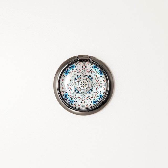 天然貝シェル★ルミエール(スマホリング・バンカーリング)|螺鈿アート|360度回転