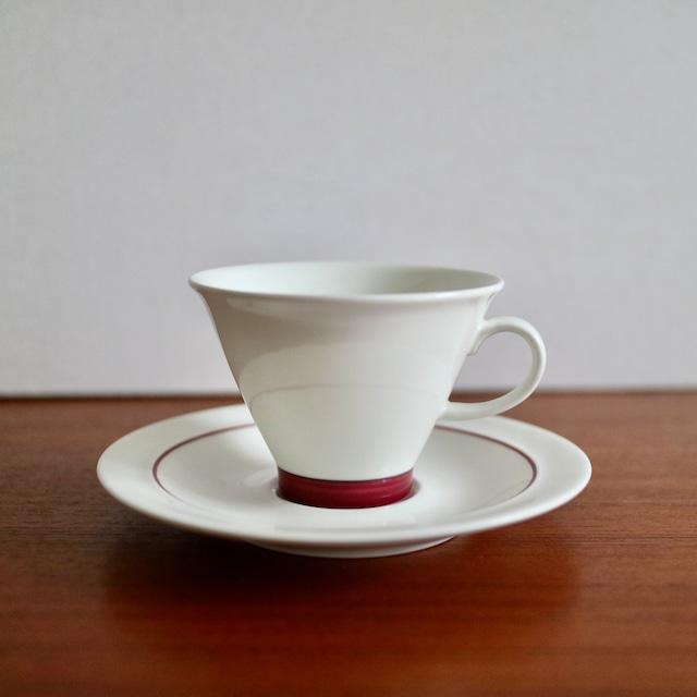 [SOLD OUT] Arabia アラビア / Harlekin Red Hat ハレキン レッドハット コーヒーカップ&ソーサー B
