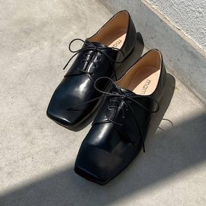 【一部難あり】スクエアトゥ オックスフォード シューズ:ブラック 22.5cm(OT1483)