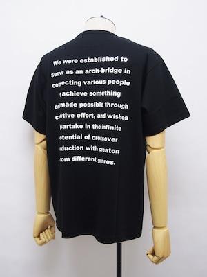 O U R E T (オーレット) クルーネック半袖メッセージTEE / BLACK OR211-3372-93