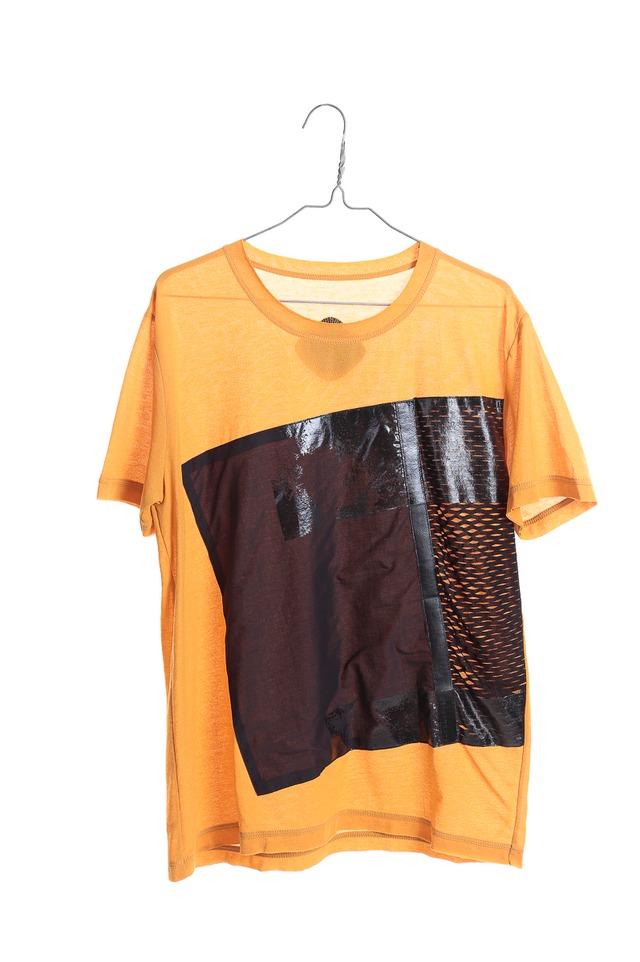 men's KABUKU Tシャツ[着るアート] WEARABLE ART KABUKU T-shirt yellow [送料/税込]