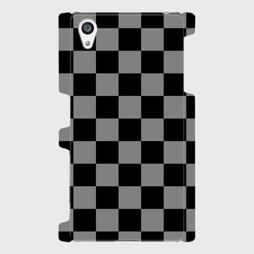 チェック柄(黒・灰)/ Androidスマホケース(ハードケース)