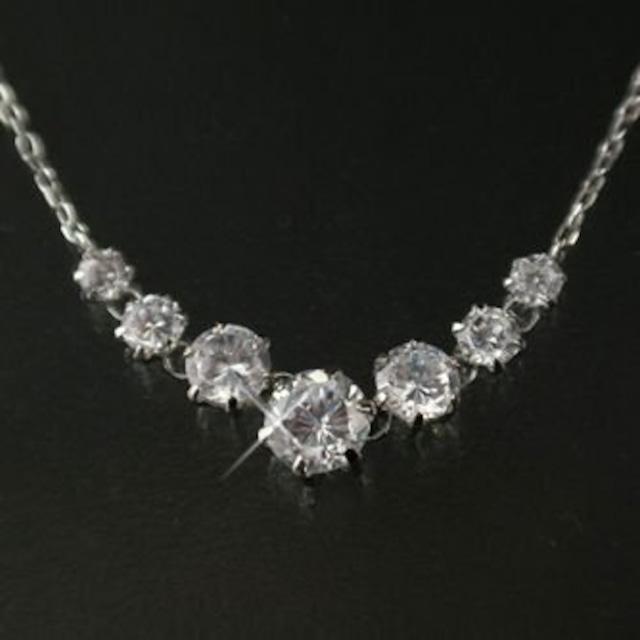 CZダイヤモンド ネックレス ピアスセット
