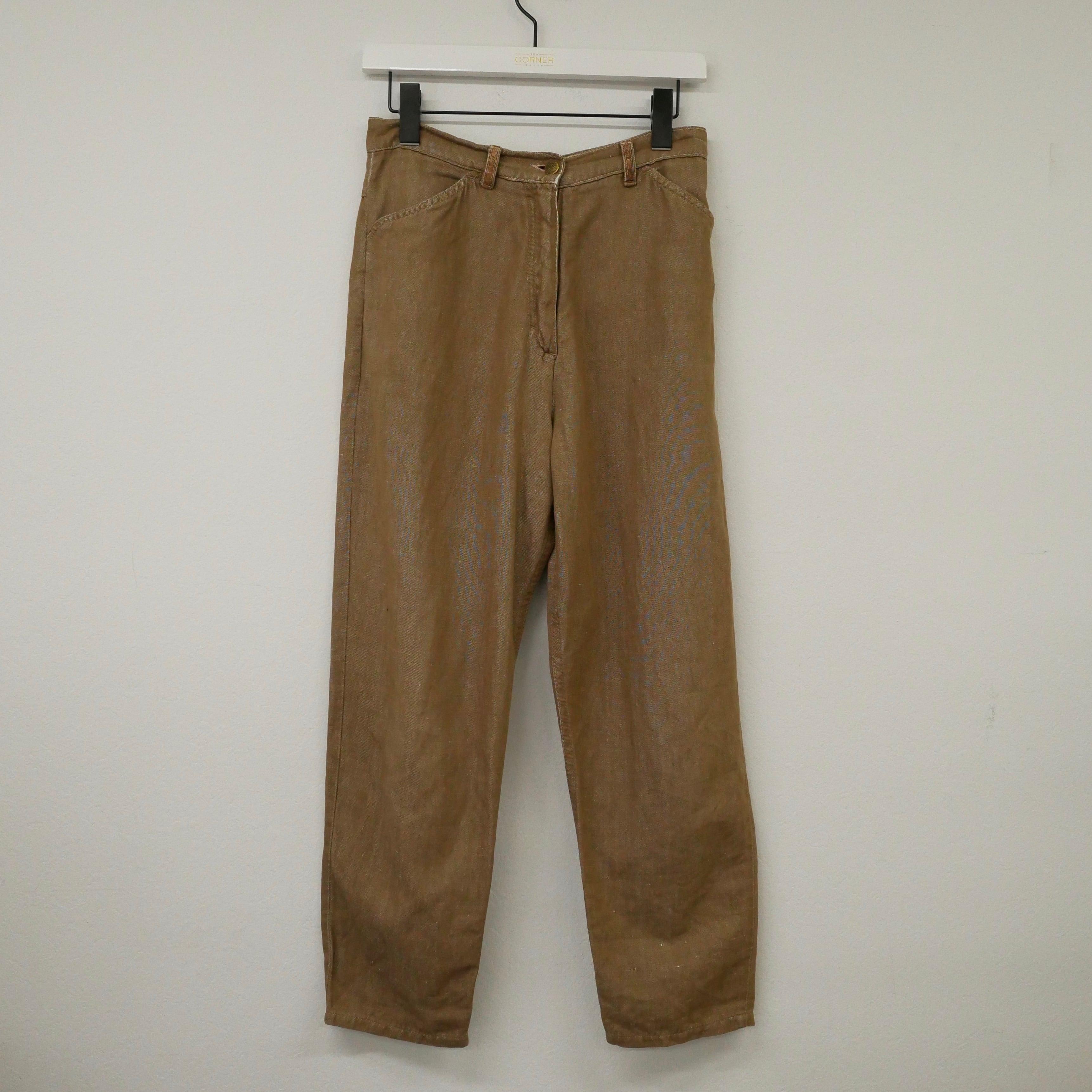 """""""LES COPAINS"""" Euro vintage pants - brown -"""