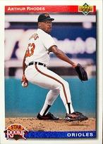 MLBカード 92UPPERDECK Arthur Rhodes #017 ORIOLES Rookie Card