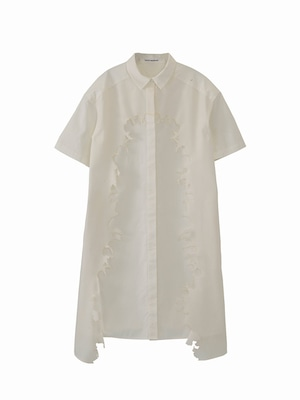 Layered shirt dress / white / S15DR01