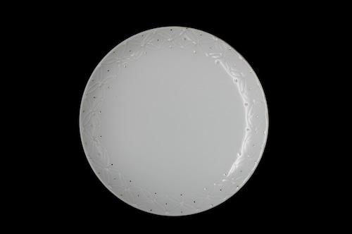 ◆受注生産◆白磁金彩七宝6寸皿 高島慎一作