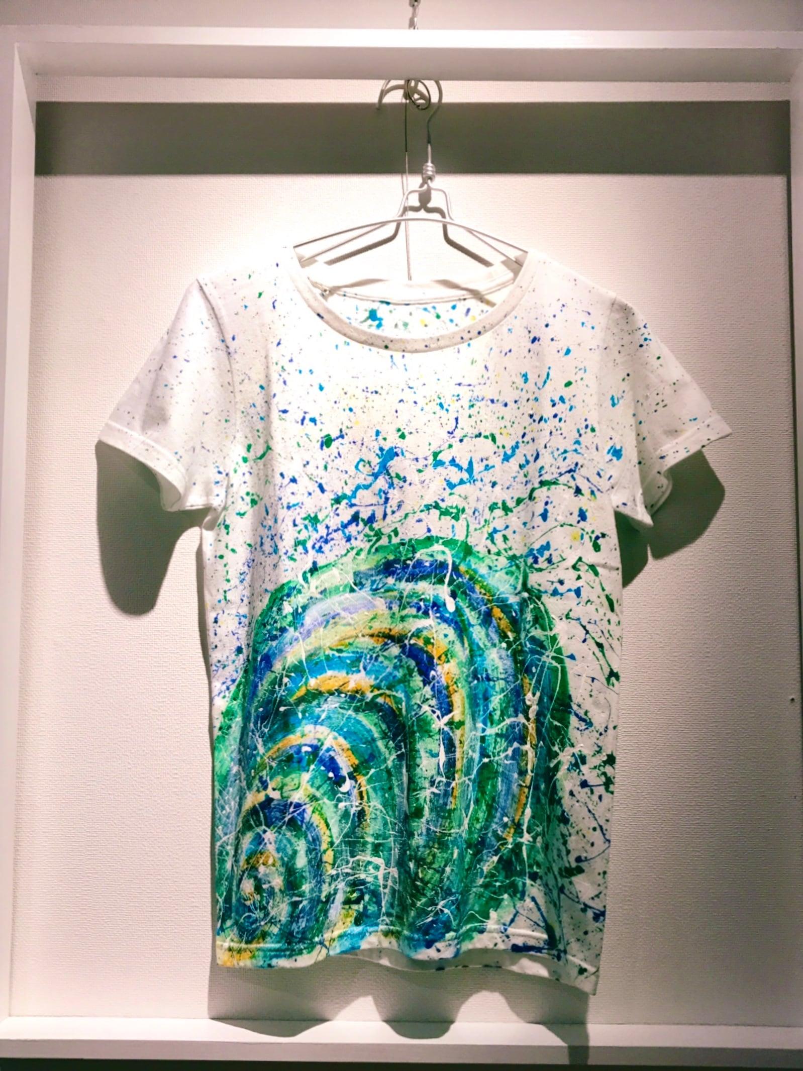 Green スパイラルシブキTシャツ