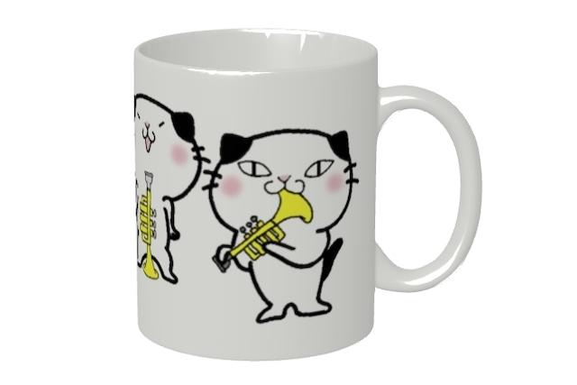 トランペット猫にゃんマグカップ