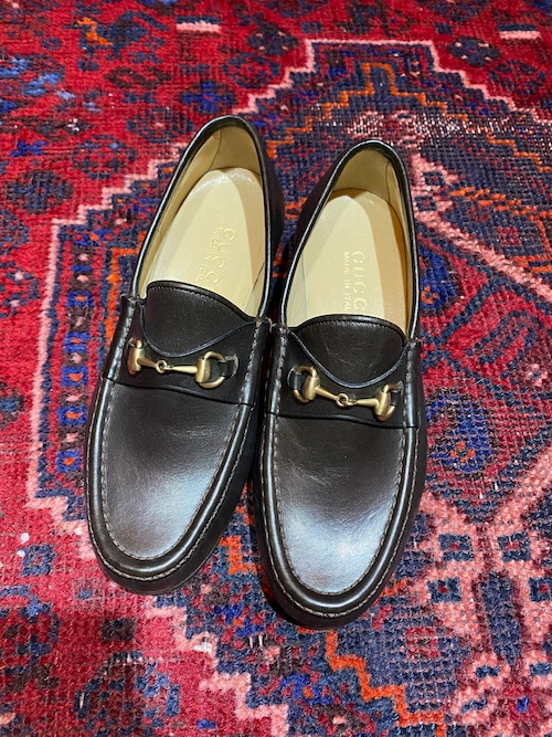 .GUCCI LEATHER HORSE BIT LOAFER MADE IN ITALY/グッチレザーホースビットローファー 2000000050133