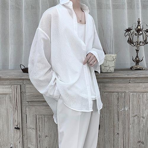 シアーストライプルーズシャツ BL9043