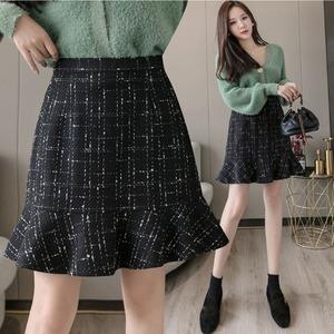 【即納】Aラインスカート レディース ハイウエスト チェック柄スカート|fa1967