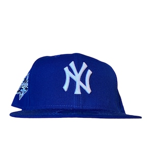 NEW ERA New York Yankees 2000 World Series 59Fifty Fitted / Blue×White (Ice Blue Brim)