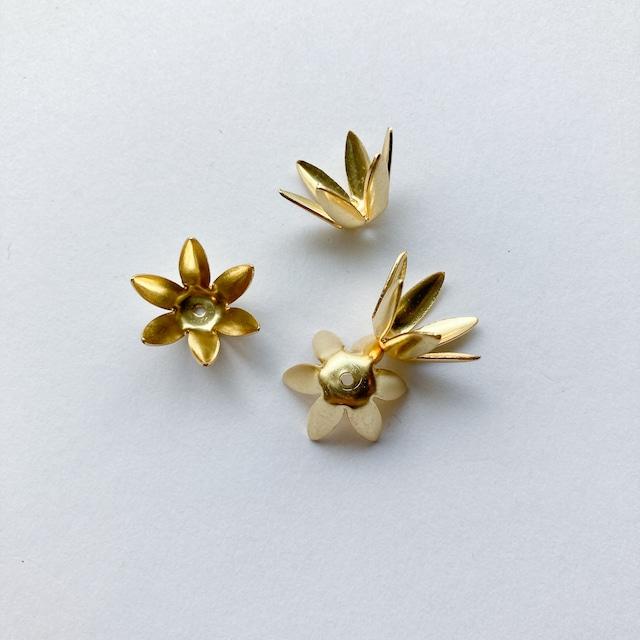 USA真鍮 シンプルなつめ花びらタッセルキャップパック(4p)