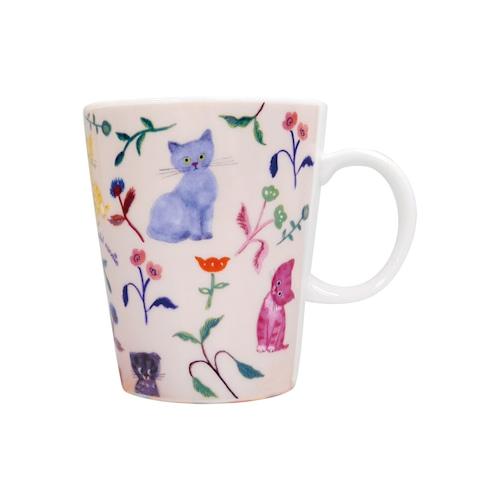 猫マグカップ(エクートミネットスマートマグ)flower