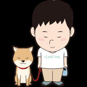 お辞儀する男性と犬