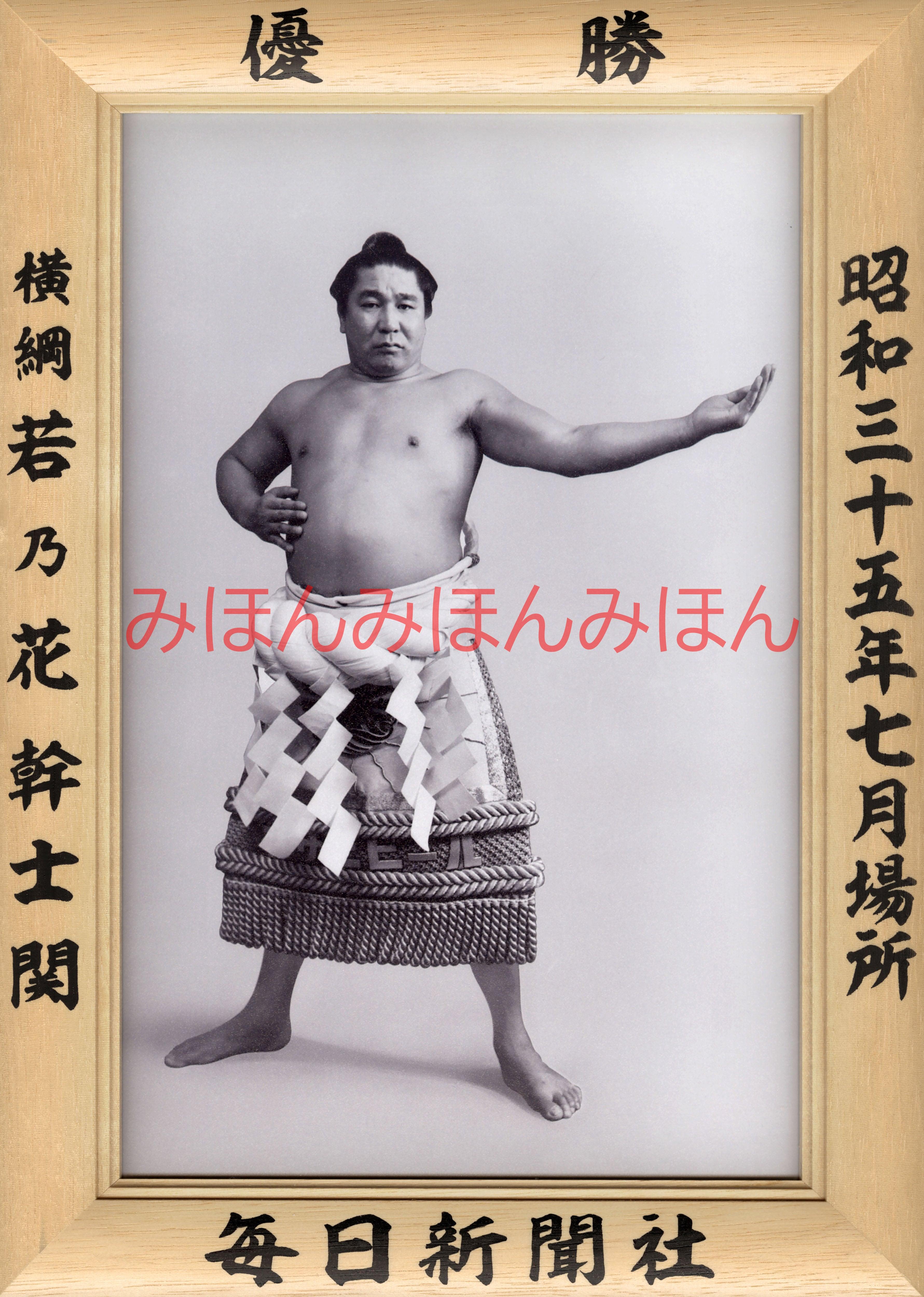 昭和35年7月場所優勝 横綱 若乃花幹士関(9回目の優勝)