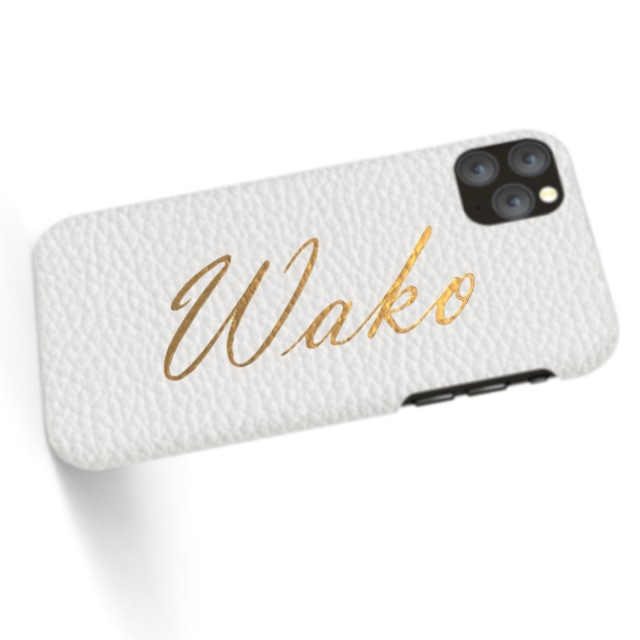 Custom Name iPhone with Premium Shrink Leather Case (Limited/9月分数量限定)