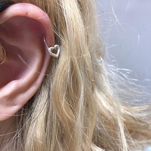 HEART pin earring short SILVER925 #LJ18025P