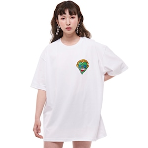 【MANG】胸元ゾンビハート刺繍 Tシャツ