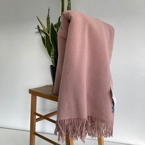 ウールブランケット シルケボー Silkeborg  シルケボー リトアニア製 大判 ひざ掛け 毛布 ピンク
