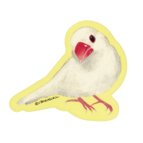 白文鳥 クリアステッカー  屋外用 耐水 MIKAZUKI / ミカヅキ