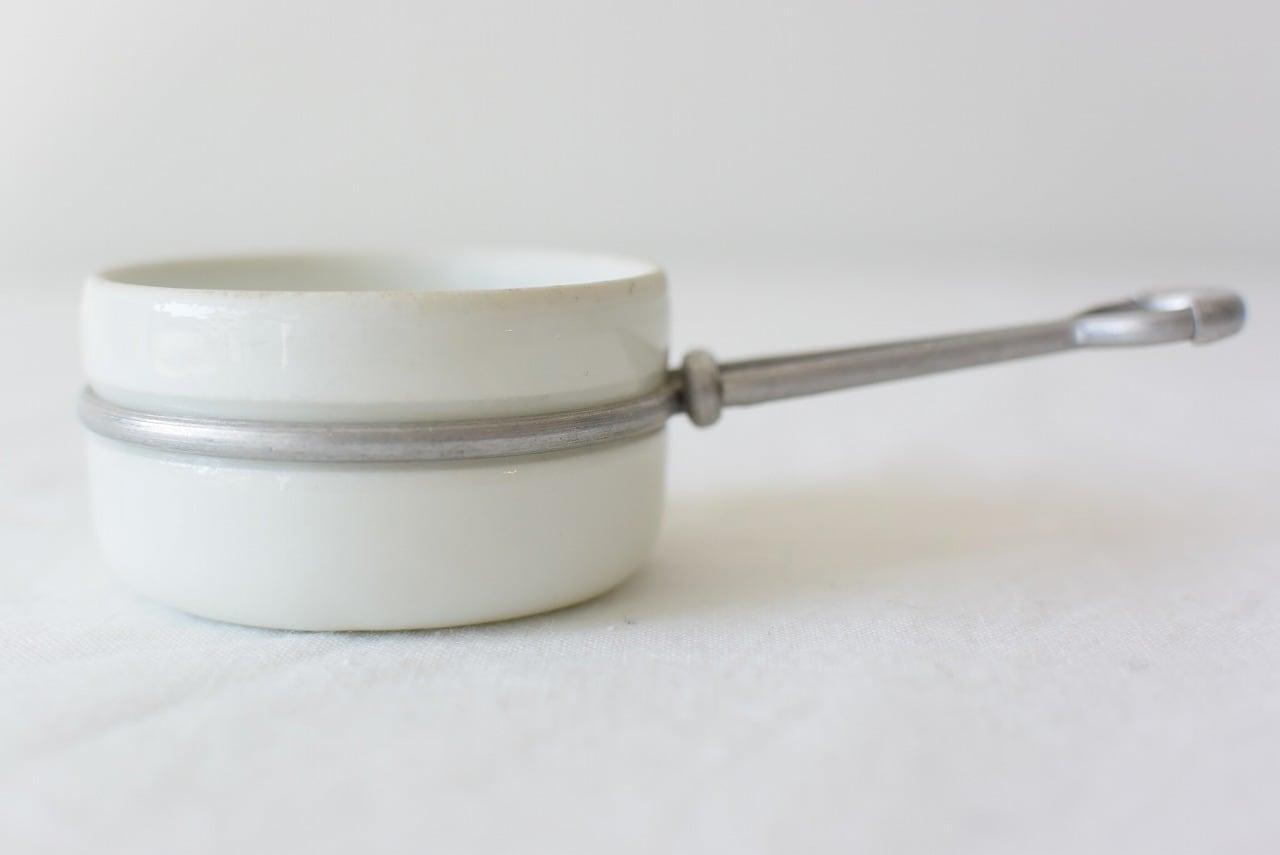 フランスアンティーク おままごとの白磁鍋