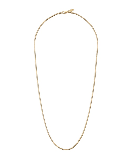 SILVER925 50cm SNAKE CHAIN NECKLACE-GOLD[REA165]
