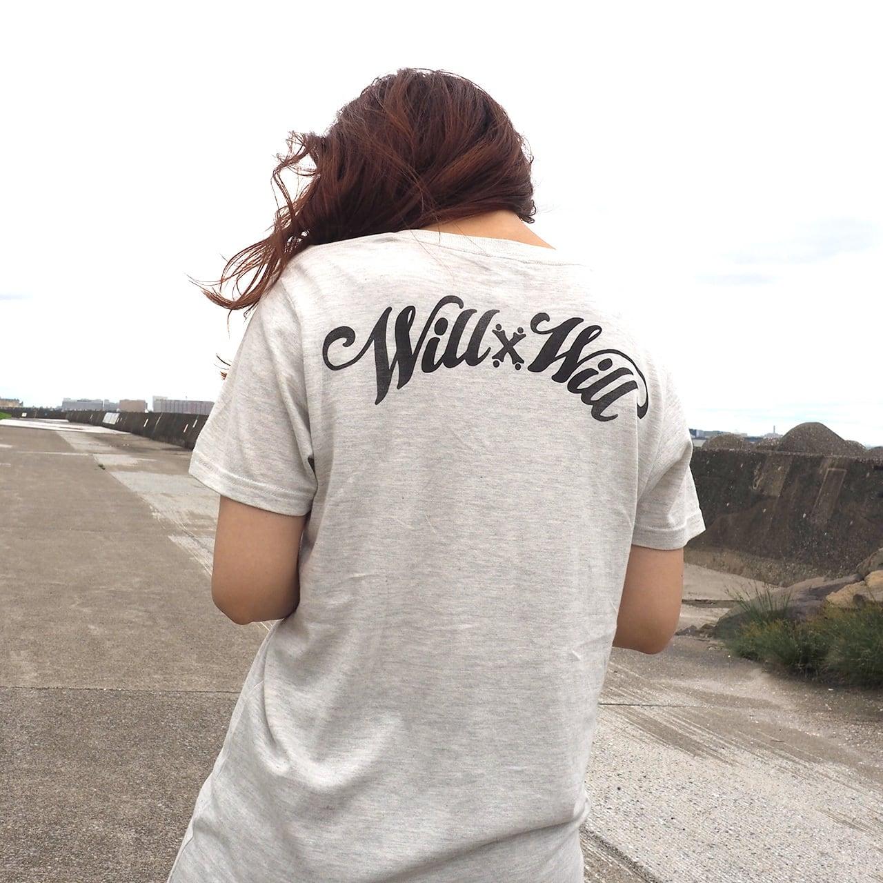 WillxWill Arch Logo V-neck Ash