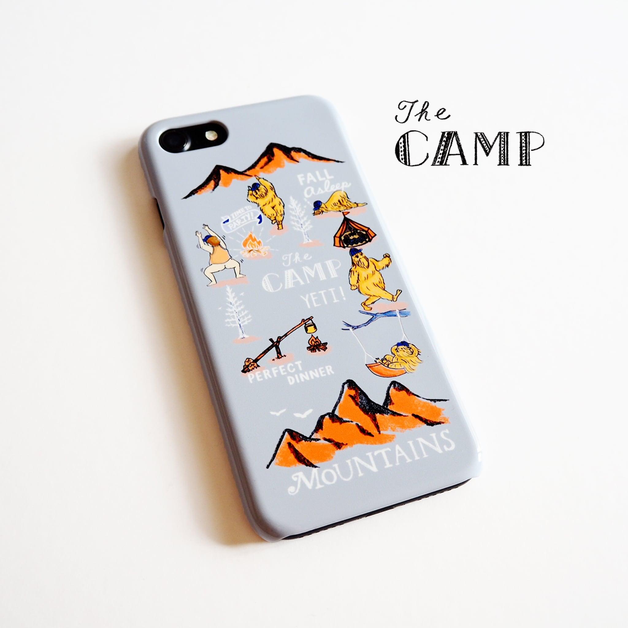 CAMP スマホケース グレー