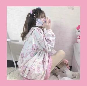 【即納】ゆめかわ 哺乳瓶 くまちゃん パーカー ピンク