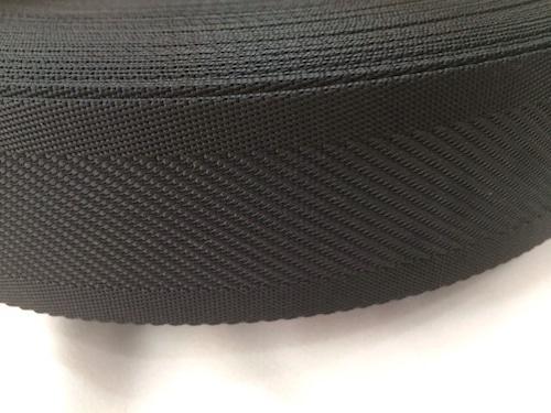 ナイロンテープ 中綾織 25mm幅 1.5mm厚 黒 5m単位
