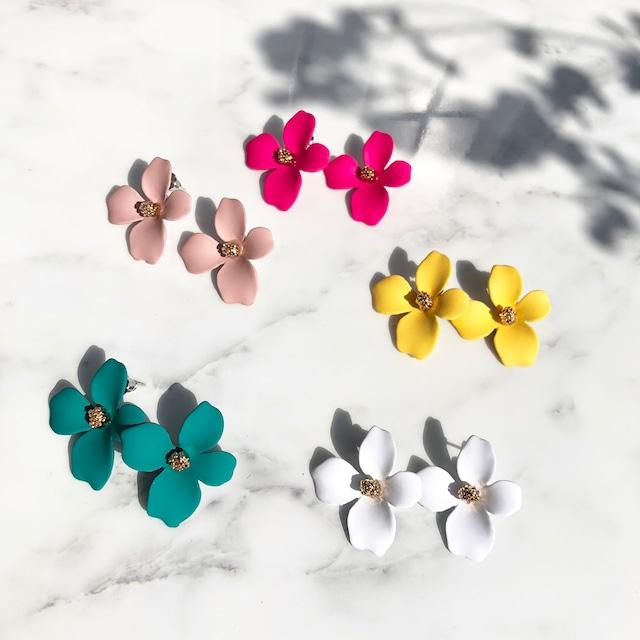◆即納◆ colorful mini フラワー ピアス  p-05