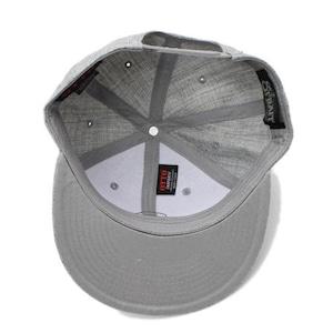 LETTER SNAPBACK CAP #HEATHER