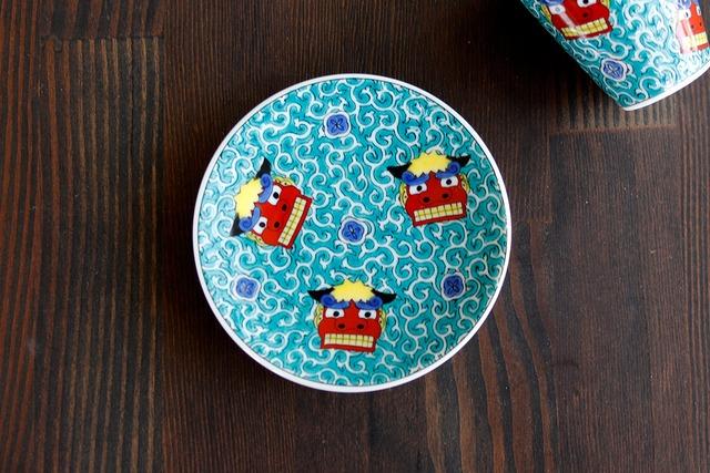 【SP3K19-08】『九谷縁起豆皿コレクション』『獅子舞〈SHISHIMAI〉』 *かわいい豆皿 コレクション アクセサリー入れ 小物入れ 絵皿 九谷焼