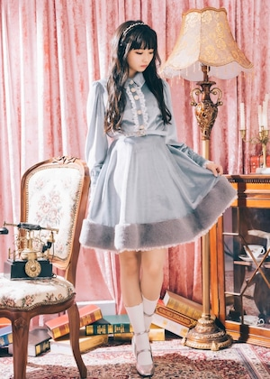 ❤︎再販売❤︎【ManonMimie】Velours Lace Dress
