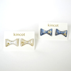 kincot 星空ピアス(リボン)