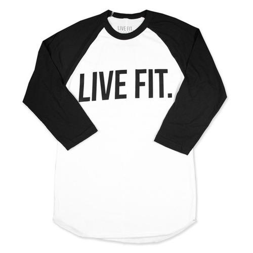 LIVE FIT Live Fit. Baseball Raglan - White/Black VF704