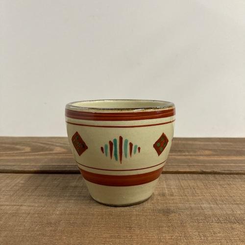 フリーカップ(赤絵)/ミンサー柄①