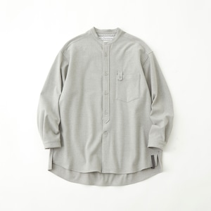 STRETCHED BAND COLLAR SHIRT - GRAY