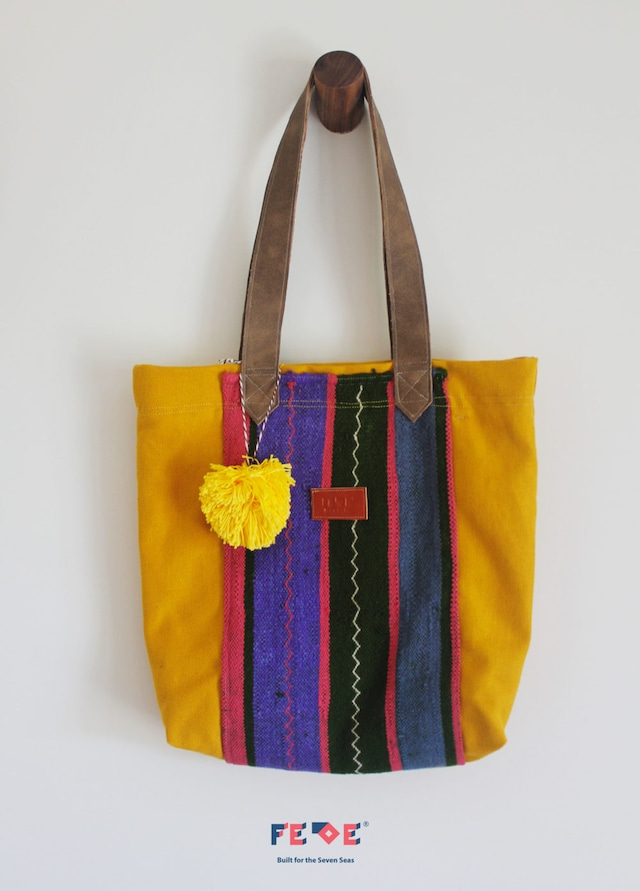 FEDE Sahara Colorful Tote Bag + Giallo