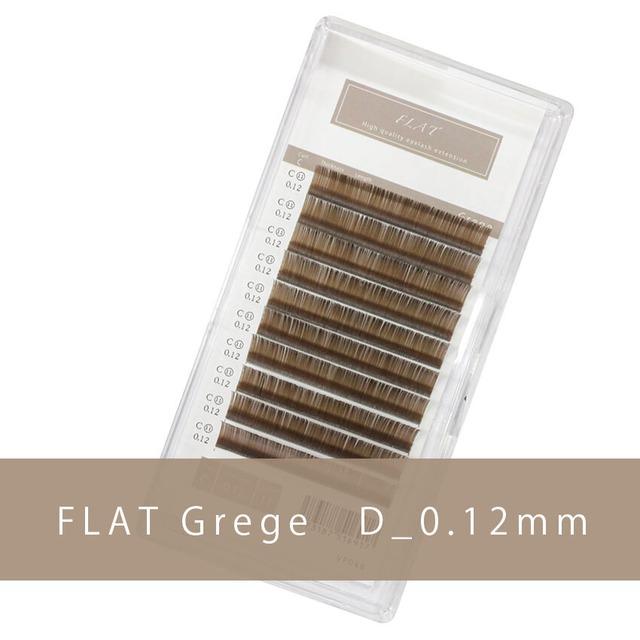 グレージュ フラットラッシュ D_0.12mm