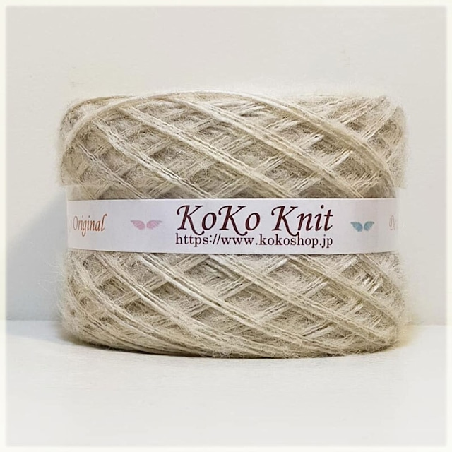 §koko§ 木枯らしの優しさ 1玉 68g以上 約 130m以上 ロービング毛糸 モヘア 引き揃え糸