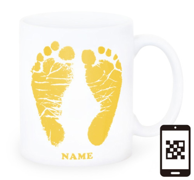 ai mug-white   A-type (YELLOW) QRコード付き