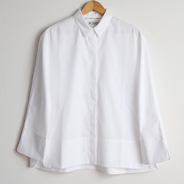 TENNE HANDCRAFTED MODERN テンハンドクラフテッドモダン  GUZZET SLEEVE SHIRTS white