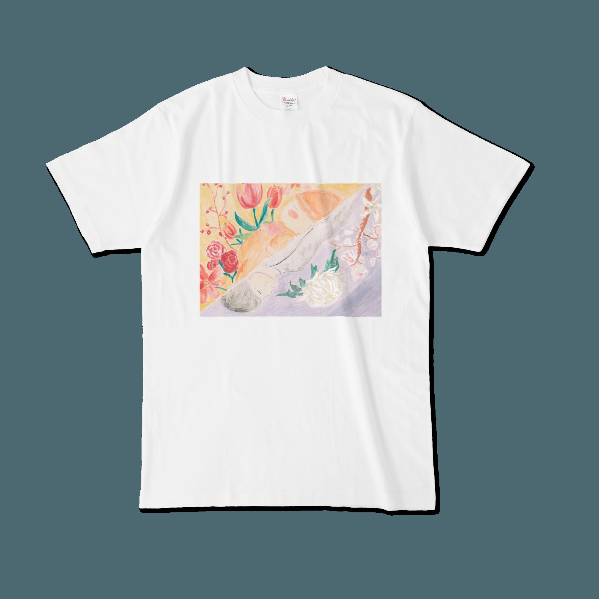【税込・送料無料】植松咲衣デザインTシャツ 「迎える赤、送る白」