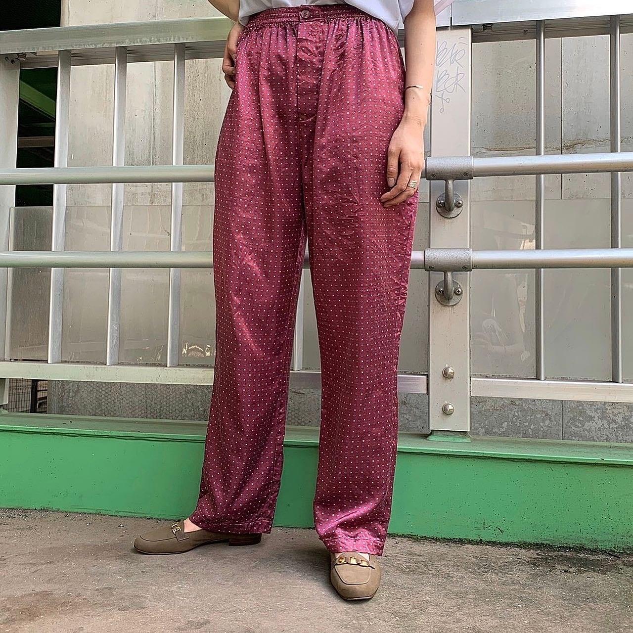 vintage easy pants -Bourgogne color-