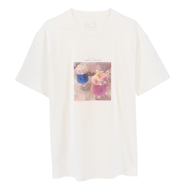 【cafe Cherish ✖ ACOS by animateコラボ  公式ライセンスグッズ】Tシャツ