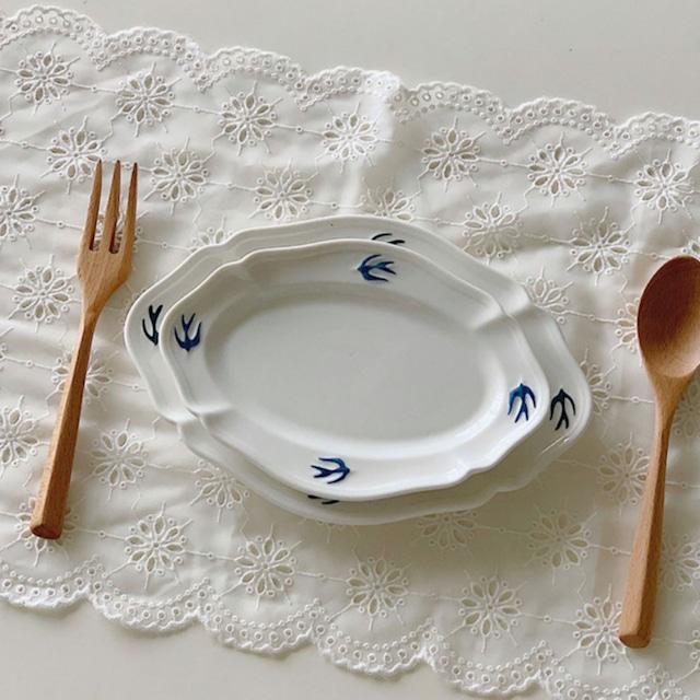 【即納】 Swallow oval plate (S) / プレート /  韓国インテリア / kr-5